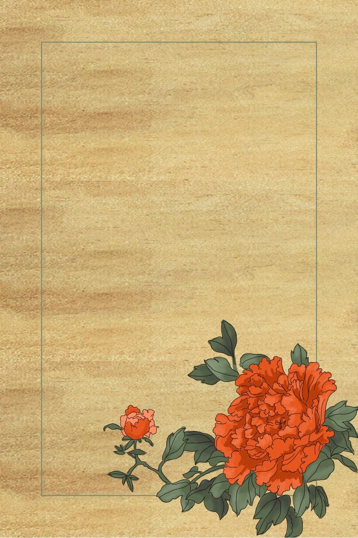 Hình ảnh background vintage hoa đỏ cực đẹp