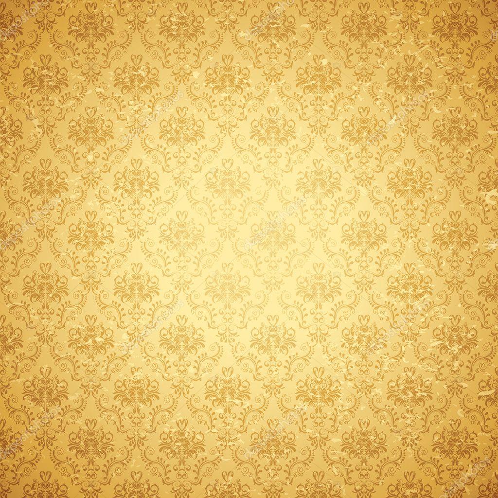Hình ảnh background vintage vàng hoa văn đẹp