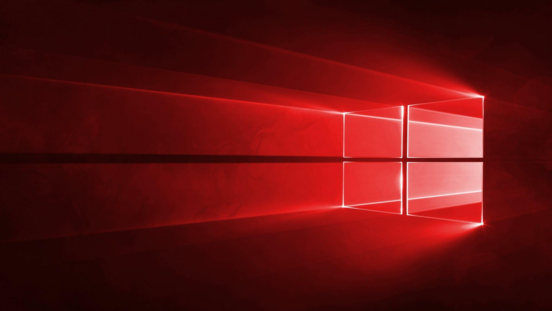 Hình nền máy tính Windows 10 màu đỏ