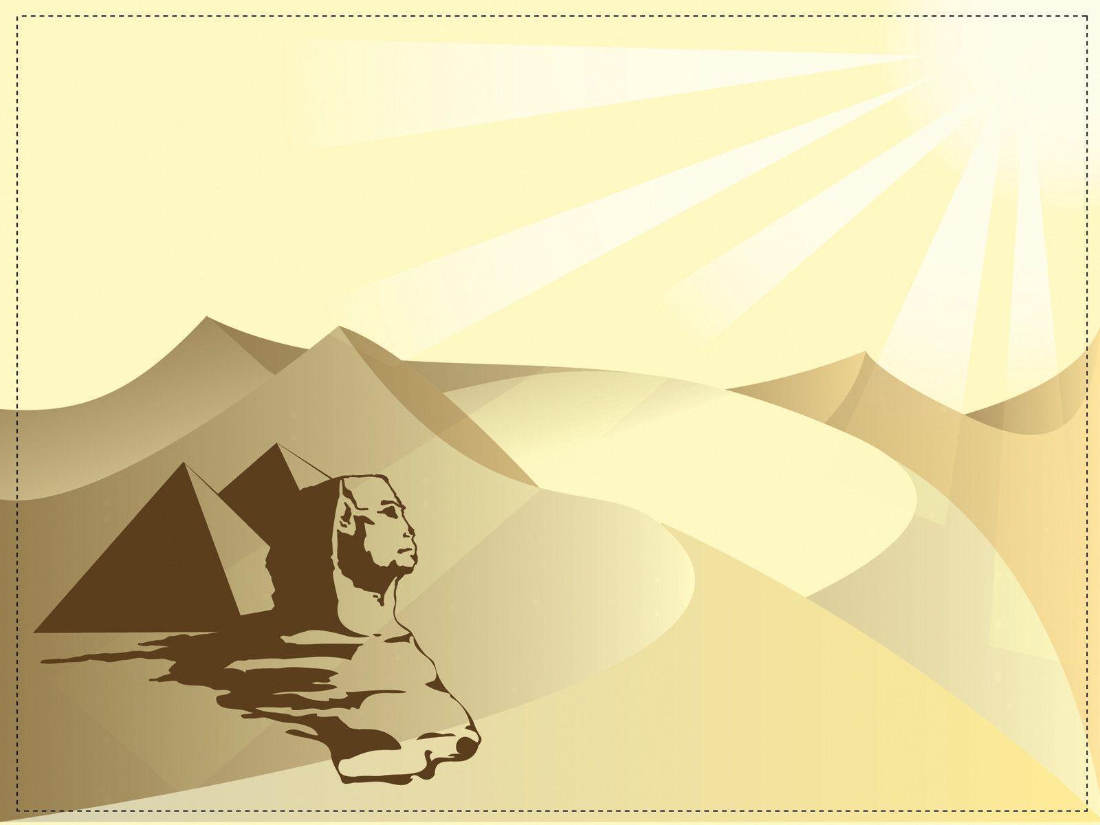Hình nền powerpoint lịch sử Ai Cập kim tự tháp