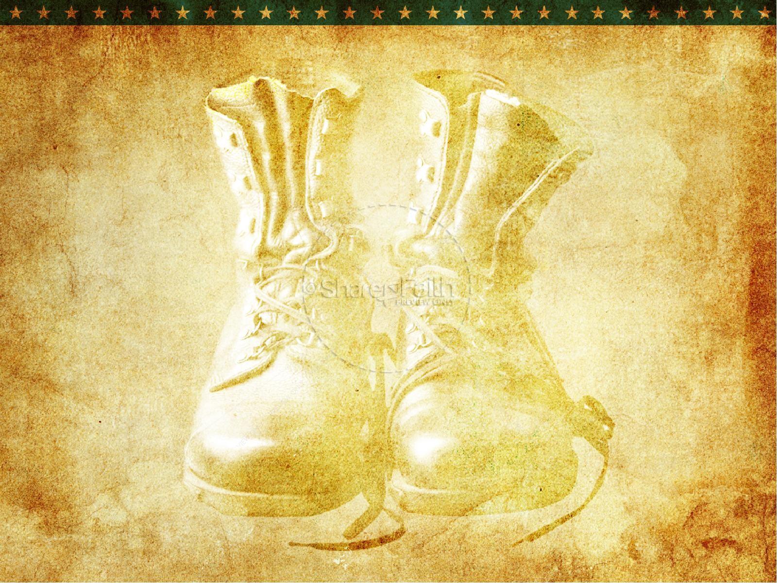 Hình nền powerpoint lịch sử đôi giầy