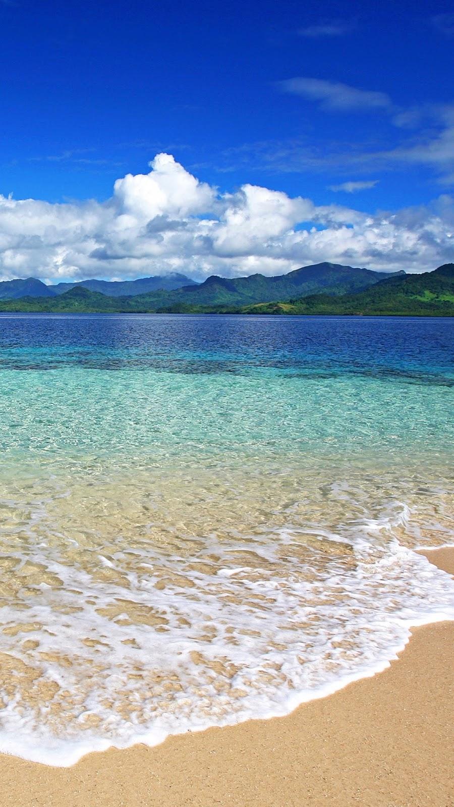 Hình nền Samsung bờ biển trong xanh