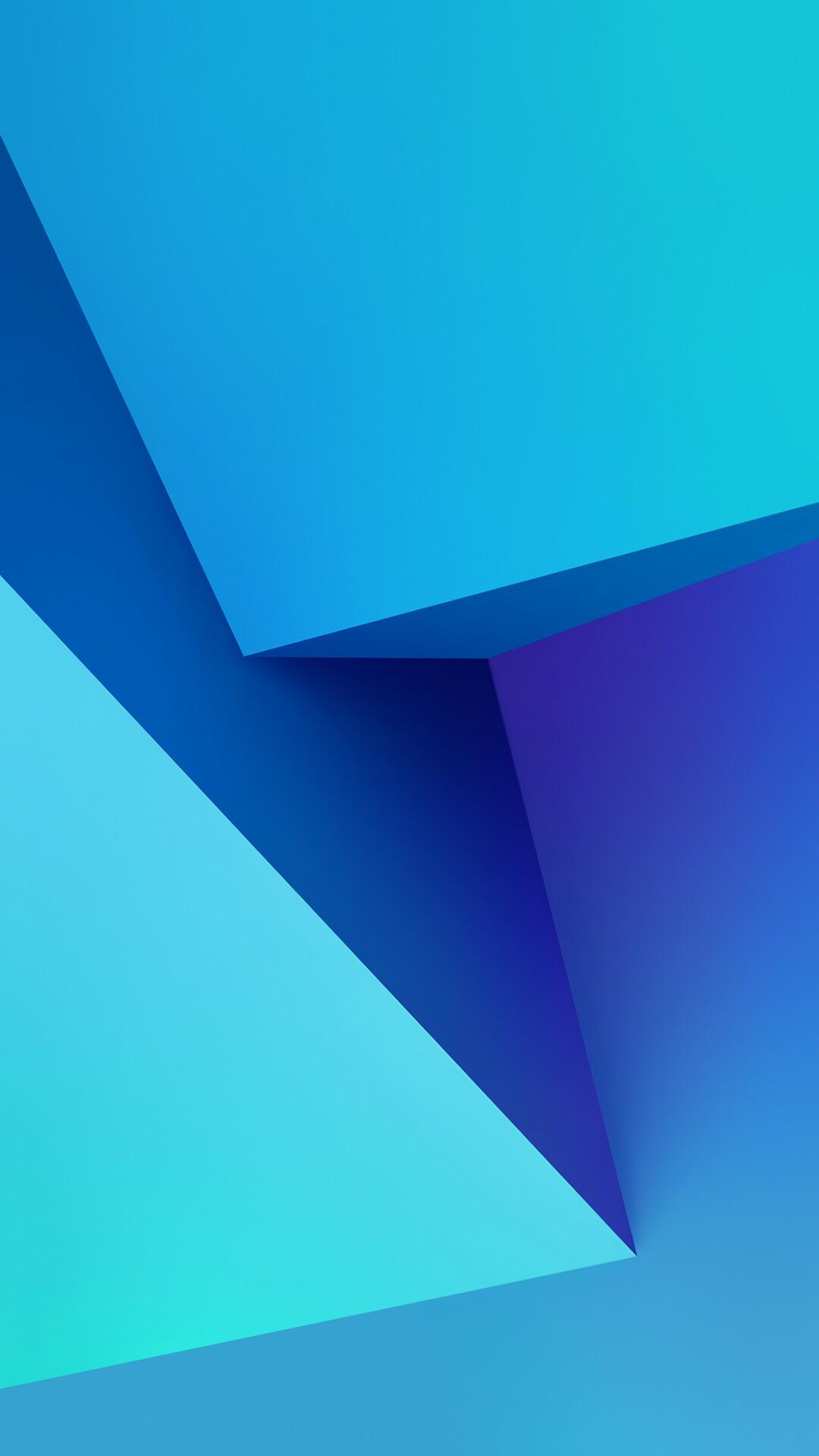 Hình nền Samsung khối xanh tím