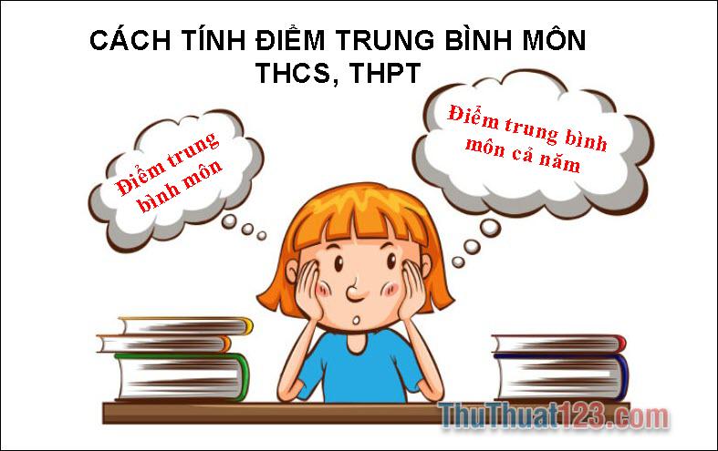 Cách tính điểm trung bình môn THCS, THPT
