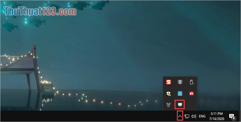 Nhấn giữ phím Shift và Click đúp chuột vào biểu tượng của Deep Freeze để mở