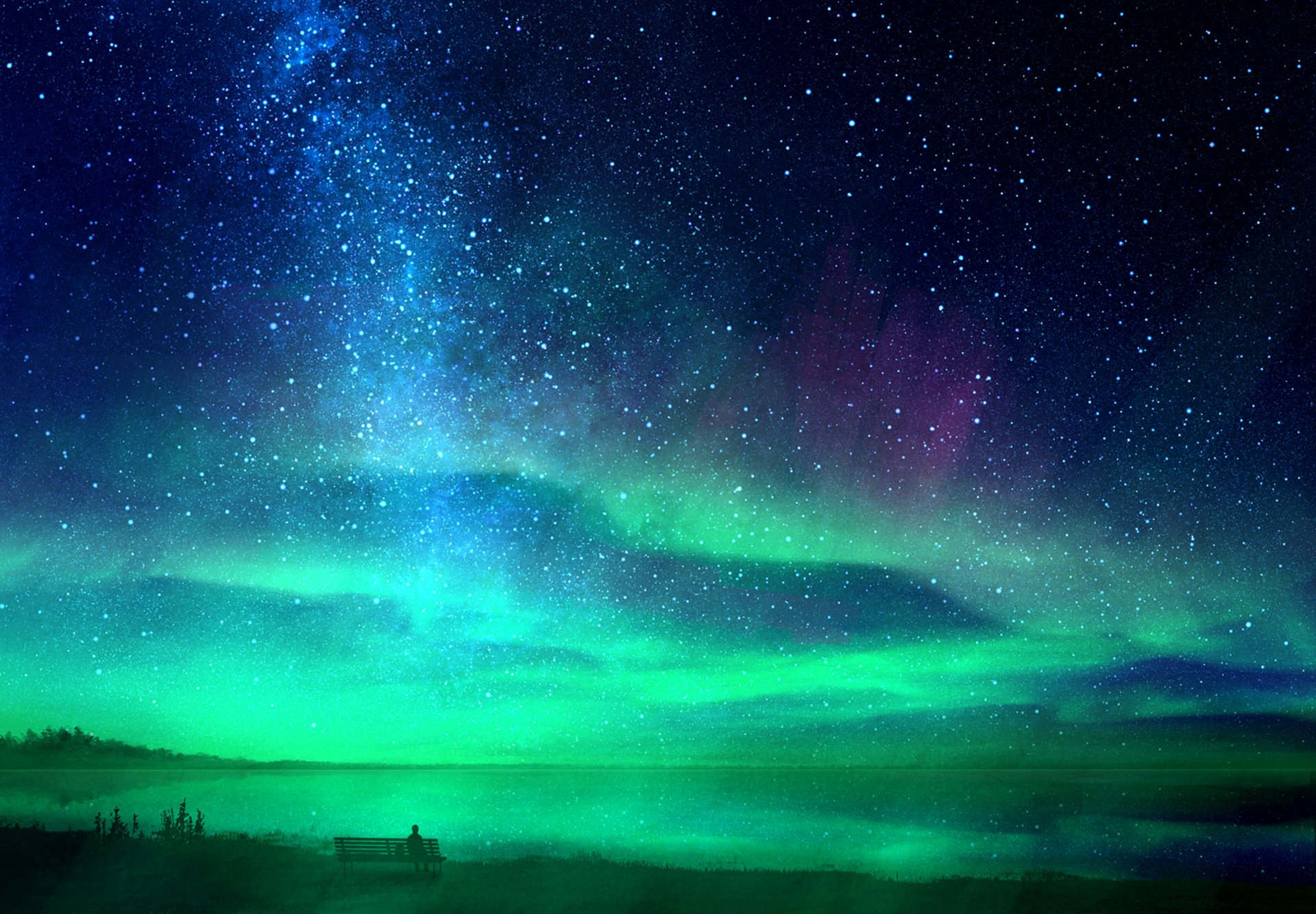Ảnh bầu trời đầy sao đẹp lung linh