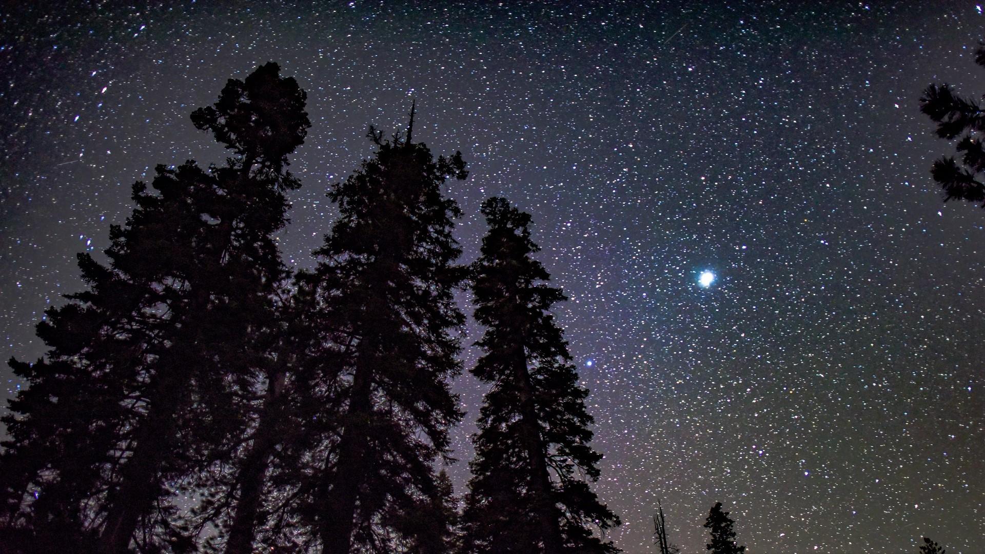 Ảnh Bầu trời về đêm đẹp lung linh Full HD