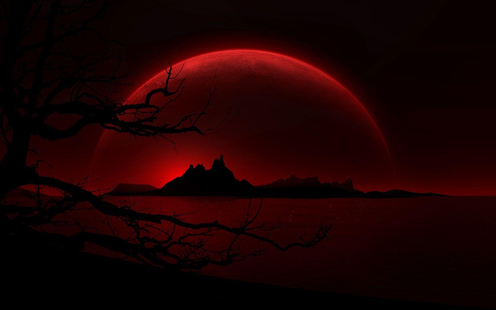 Ảnh mặt trăng máu đẹp