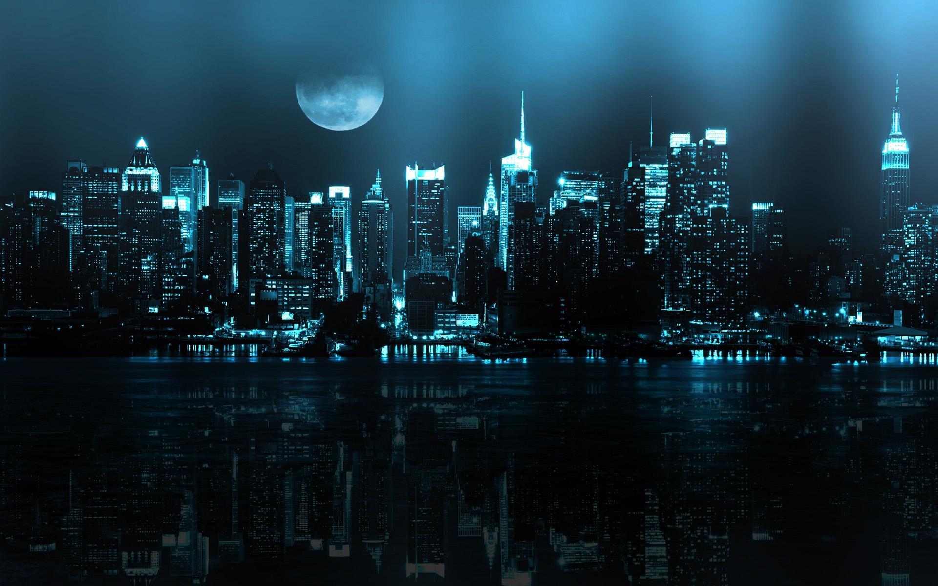 Ảnh mặt trăng trong thành phố đẹp