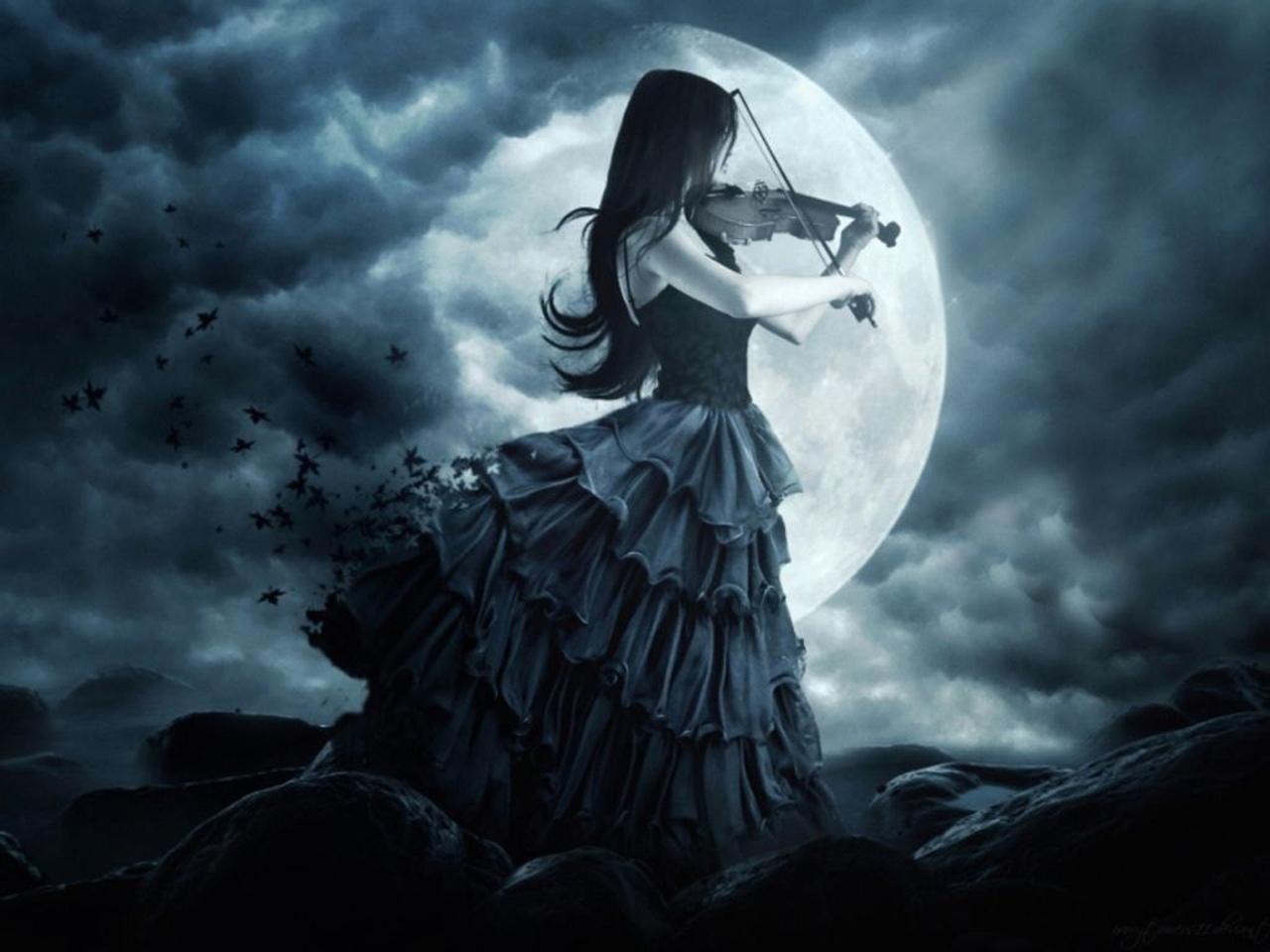 Ảnh mặt trăng và cô gái đẹp nhất