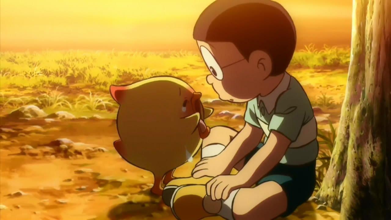 Ảnh Nobita buồn dễ thương