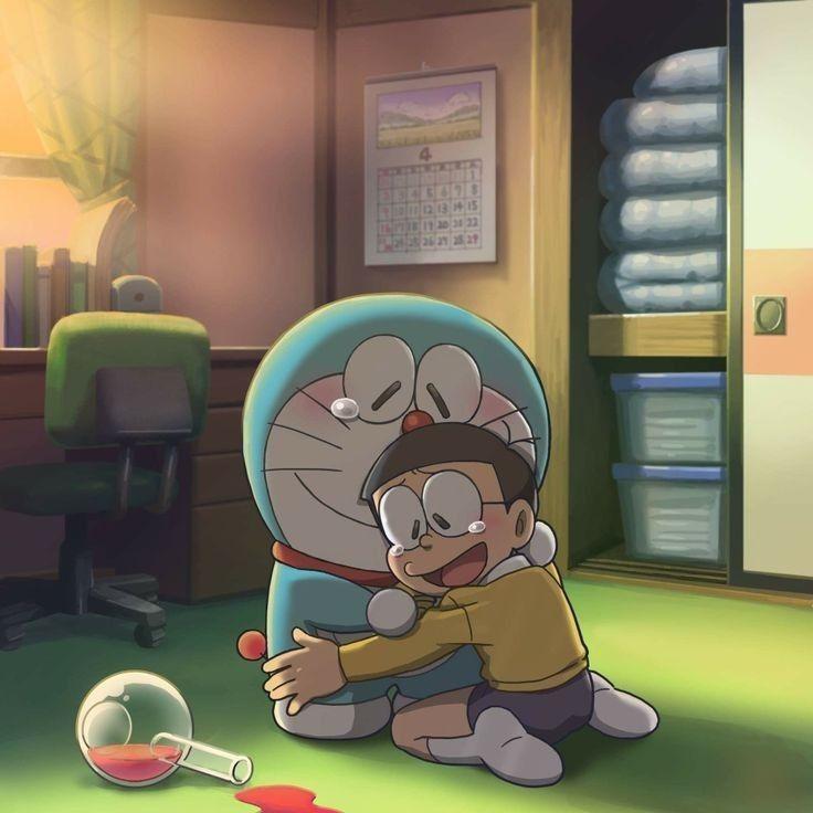 Ảnh Nobita buồn khóc