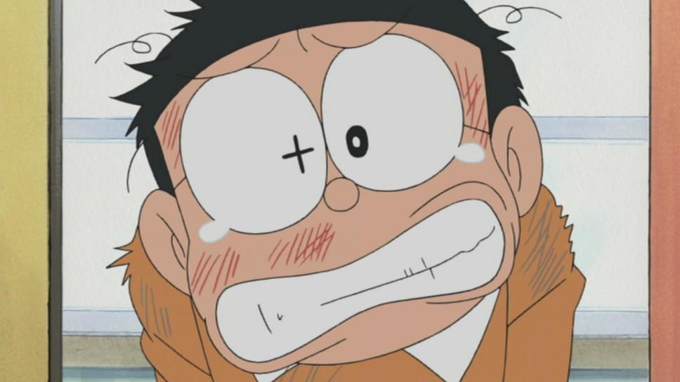 Ảnh Nobita buồn vì bị bắt nạt