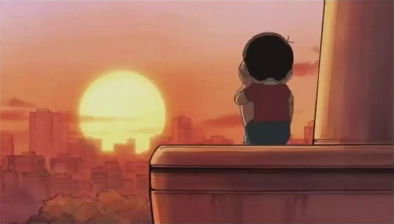 Ảnh Nobita buồn vì thất tình