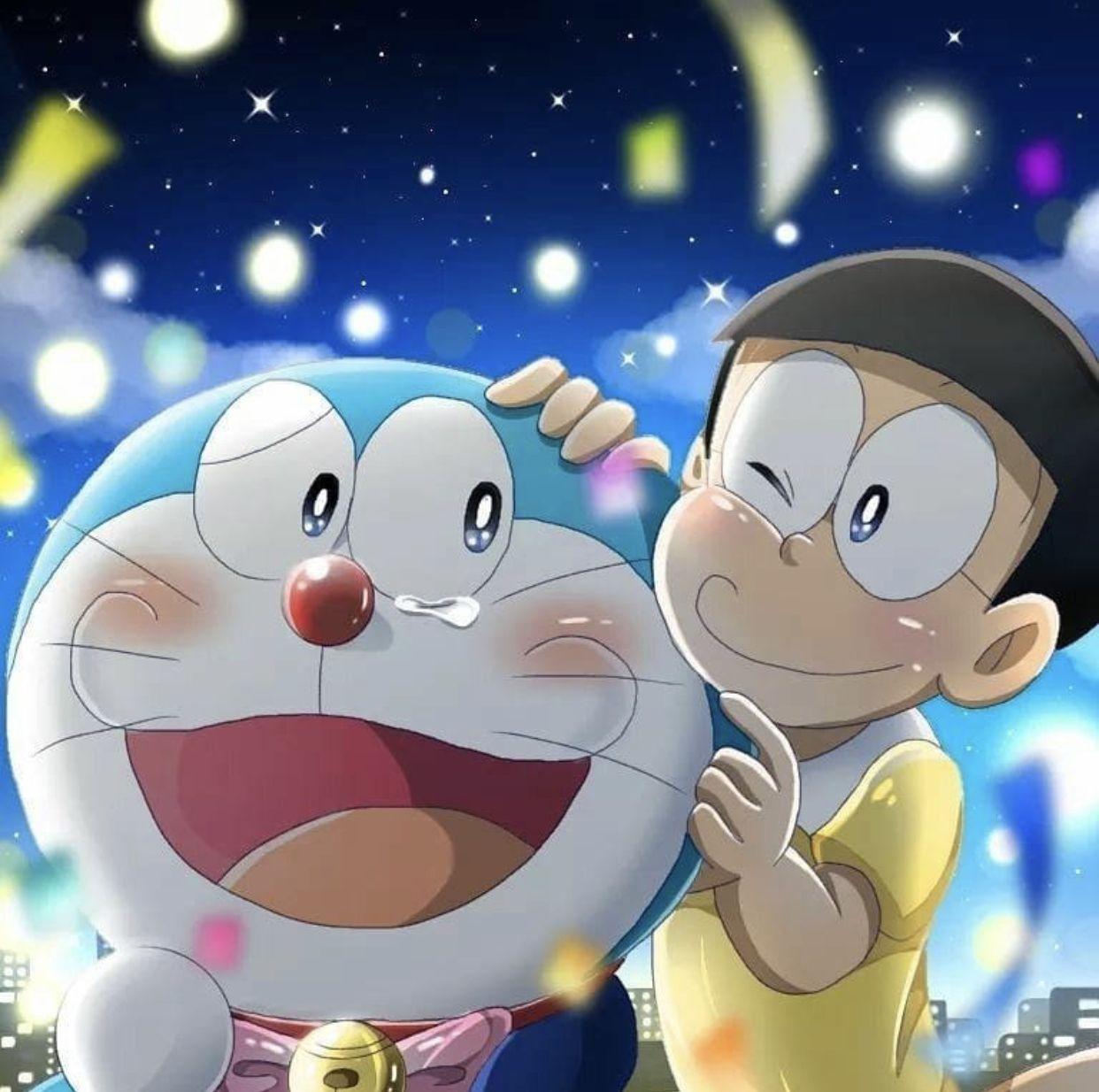 Ảnh Nobita buồn vui lẫn lộn