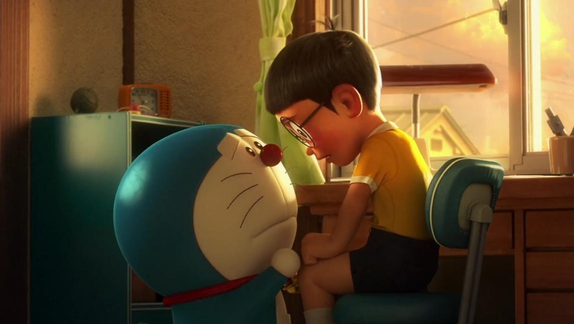 Ảnh Nobita khóc chia tay Doraemon
