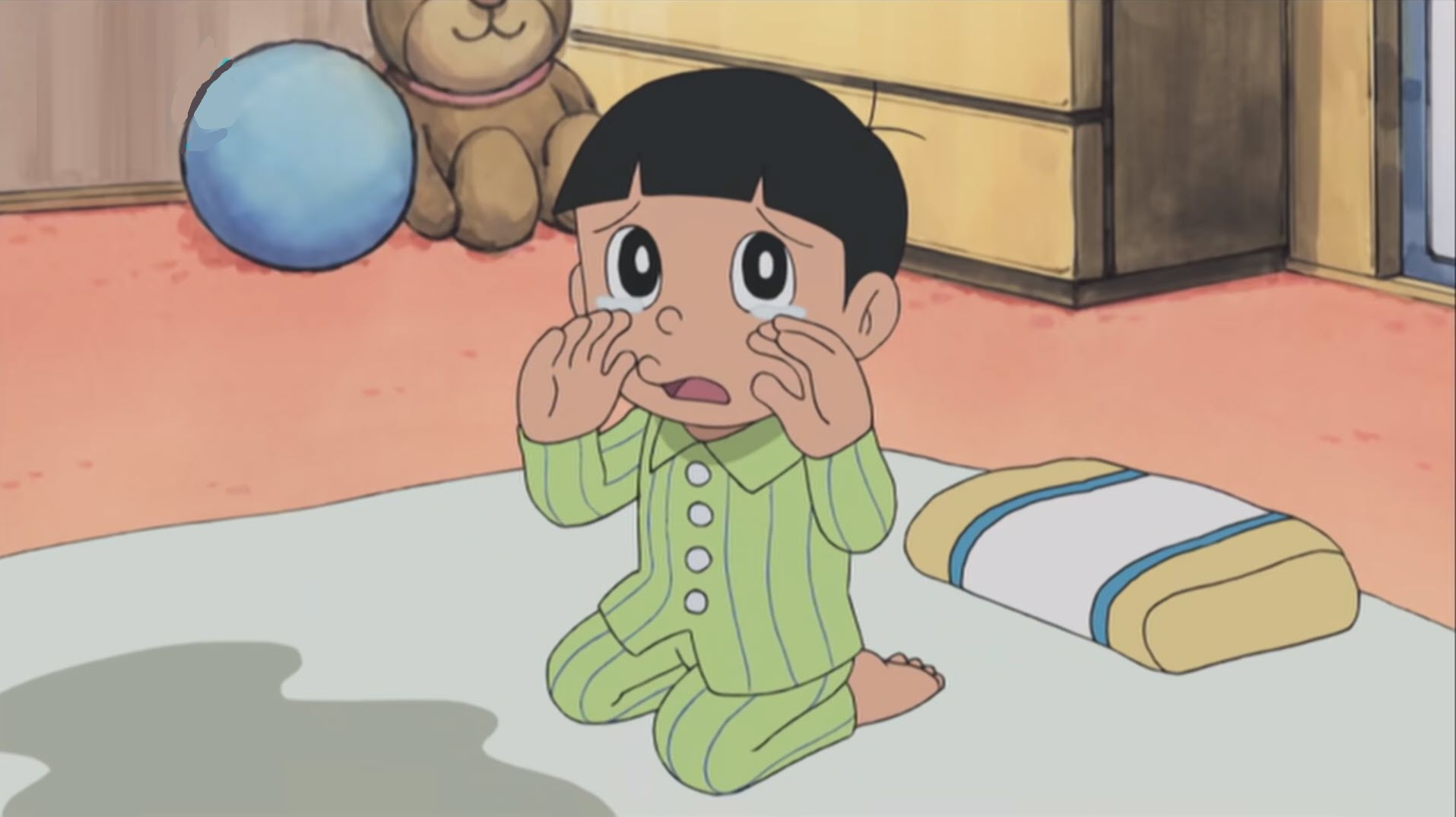 Anhr Nobita hồi bé khóc