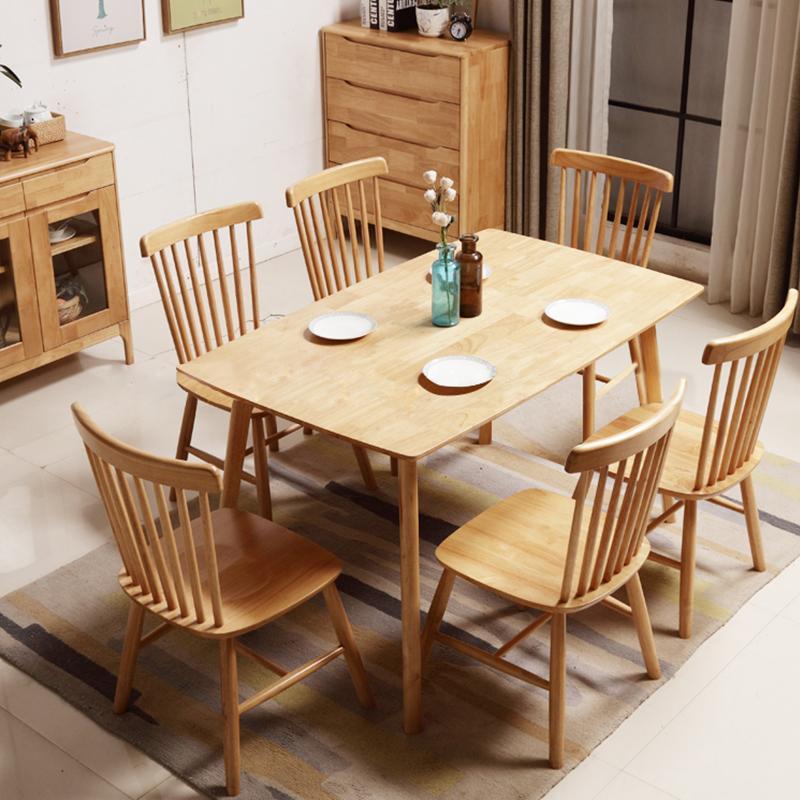 Bộ bàn ăn 6 ghế Pinnstol Anpha mặt veneer