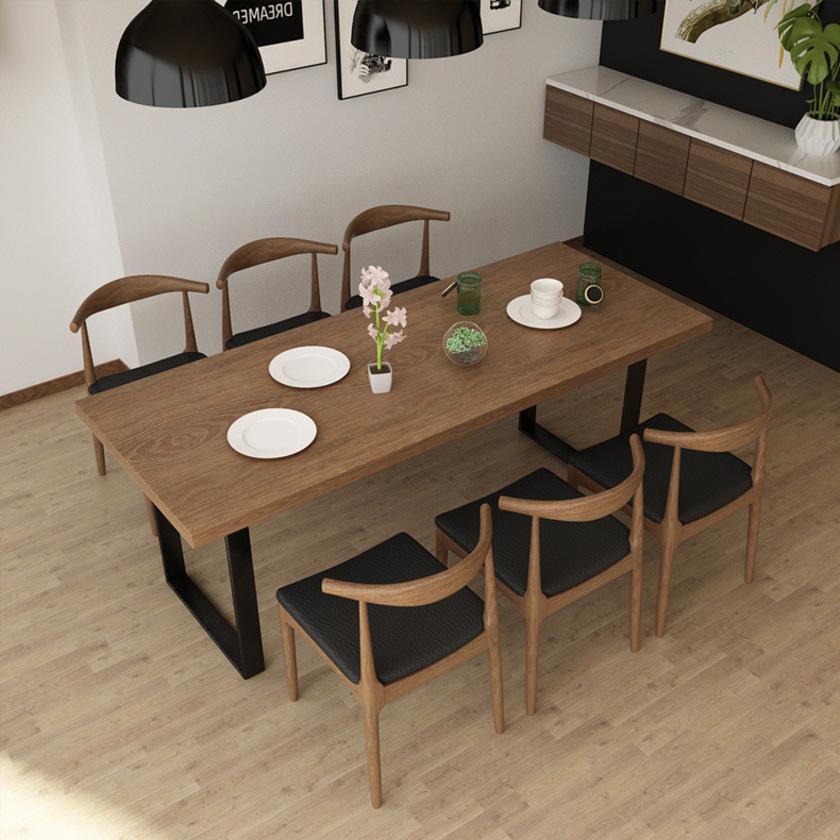 Bộ bàn ghế ăn bằng gỗ 6 ghế sang trọng