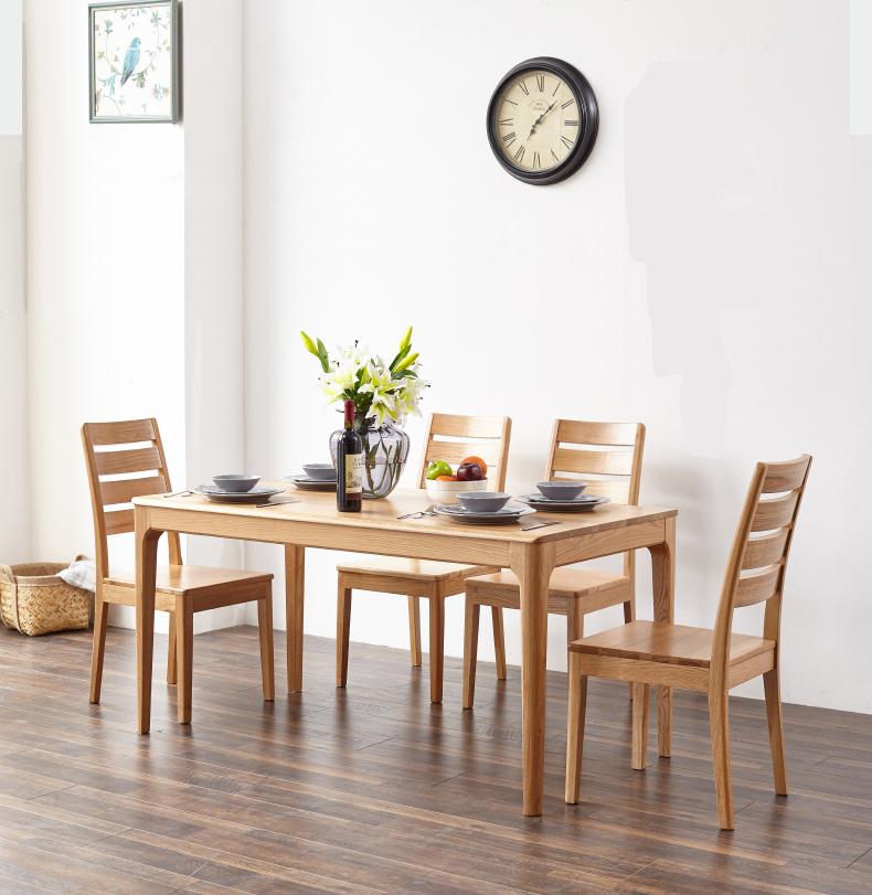 Bộ bàn ghế ăn bằng gỗ tự nhiên cao cấp
