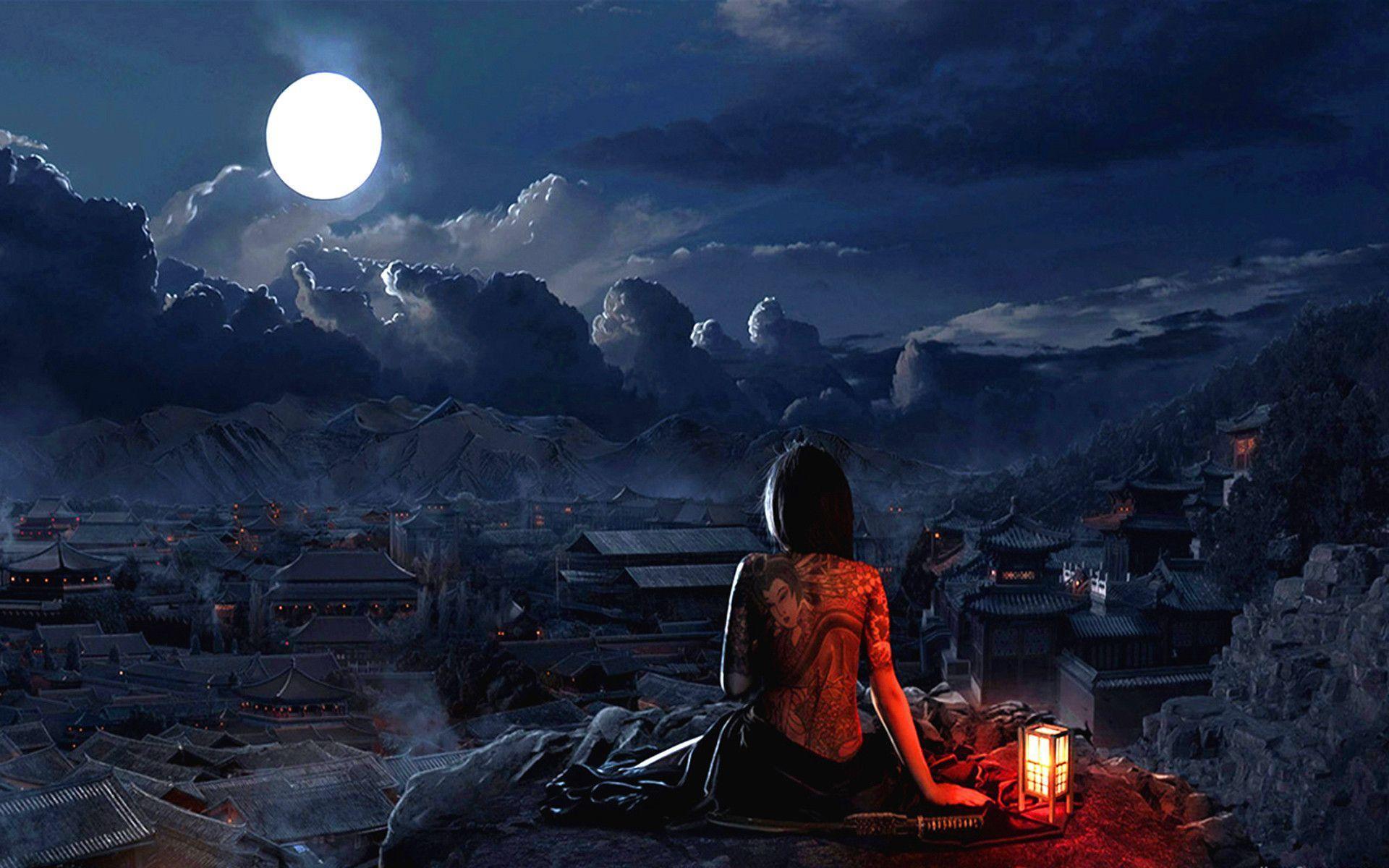 Hình ảnh mặt trăng đêm đẹp nhất