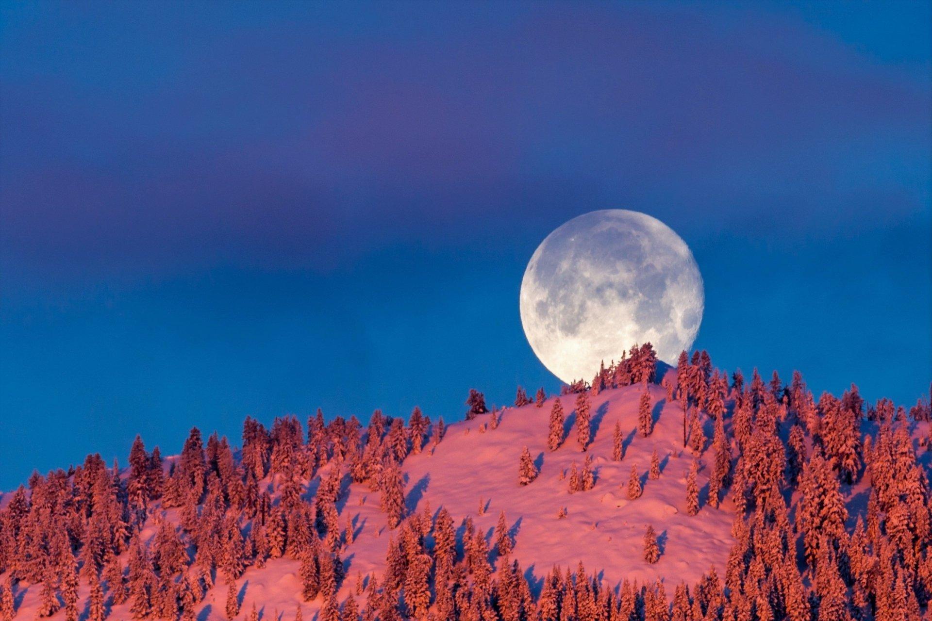Hình ảnh mặt trăng đẹp và ấn tượng