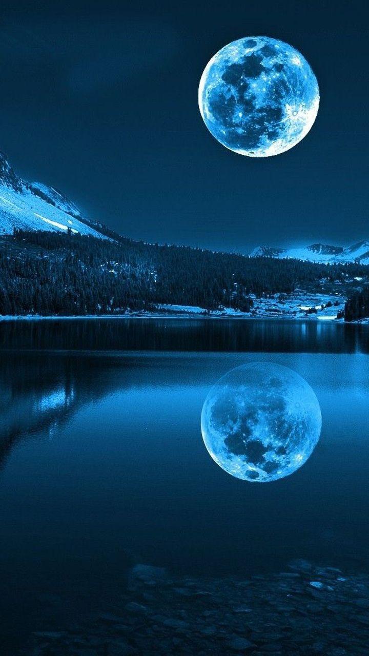 Hình mặt trăng cho điện thoại