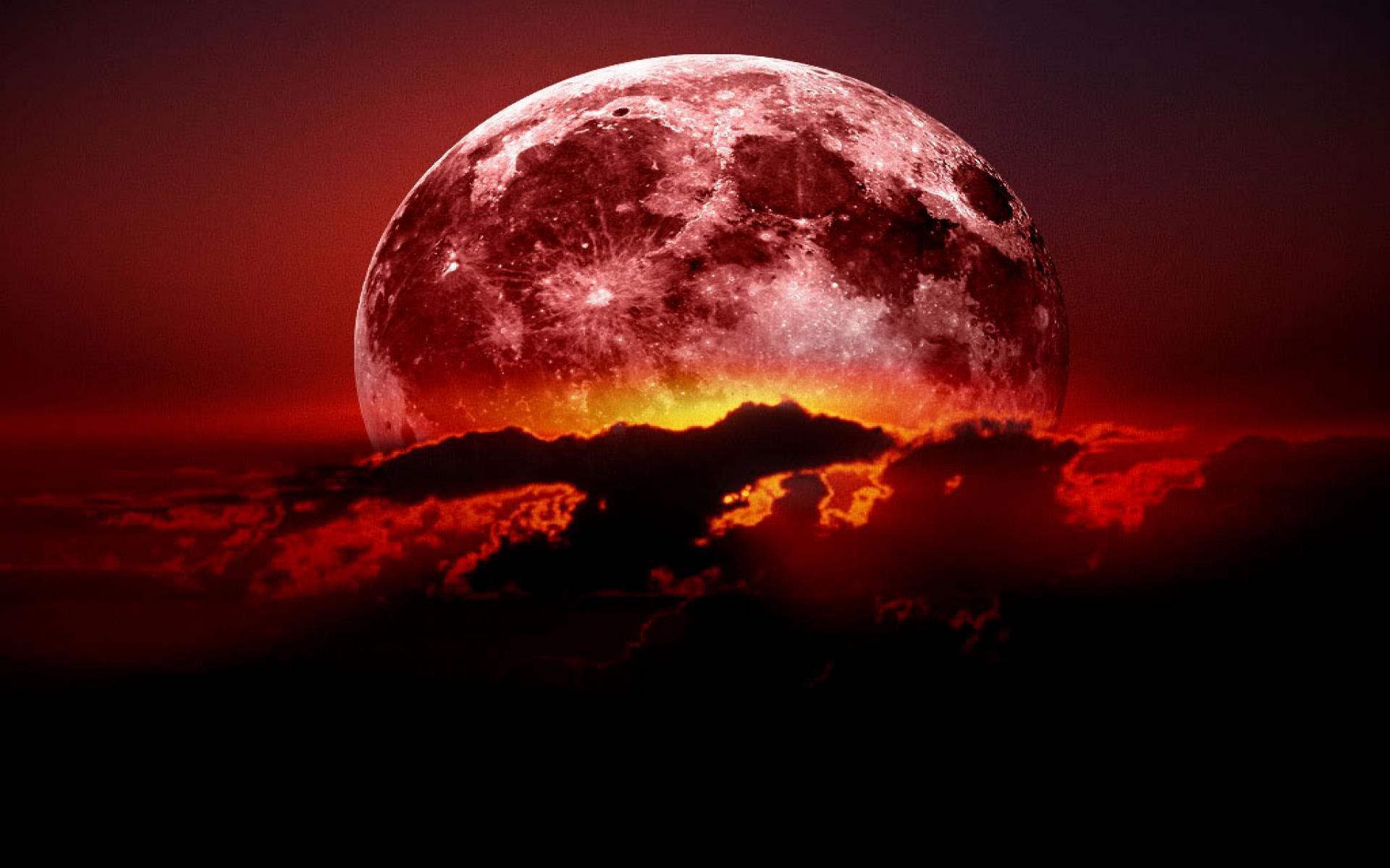 Hình mặt trăng máu đẹp nhất