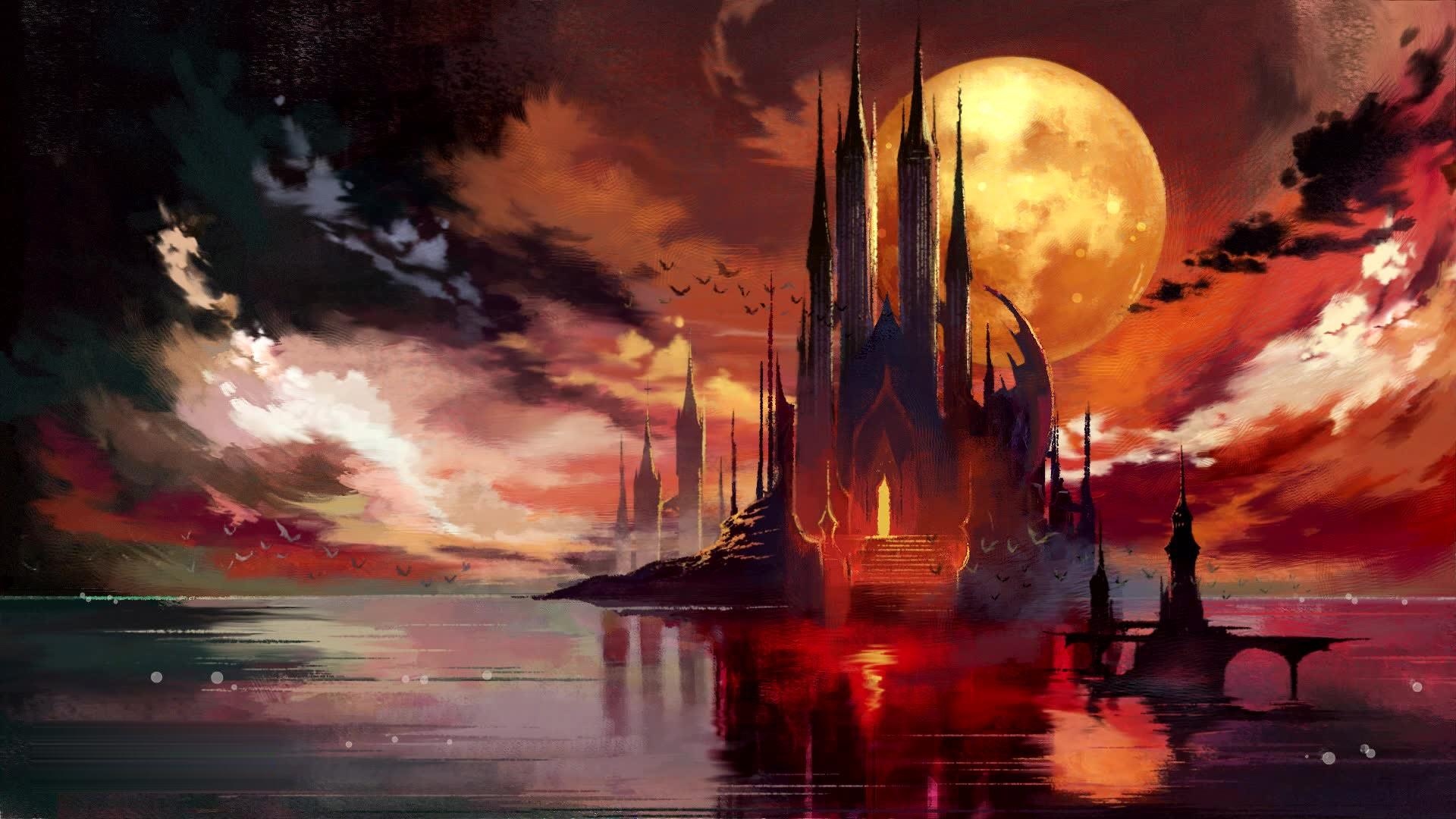 Hình vẽ mặt trăng lâu đài đẹp nhất
