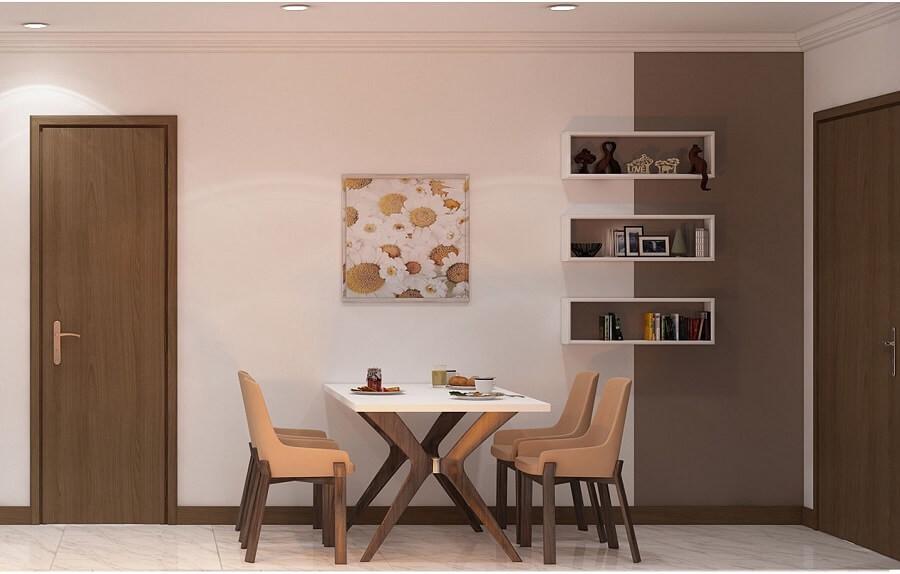 Mẫu bàn ăn nhỏ 4 ghế cho nhà nhỏ hoặc căn hộ chung cư