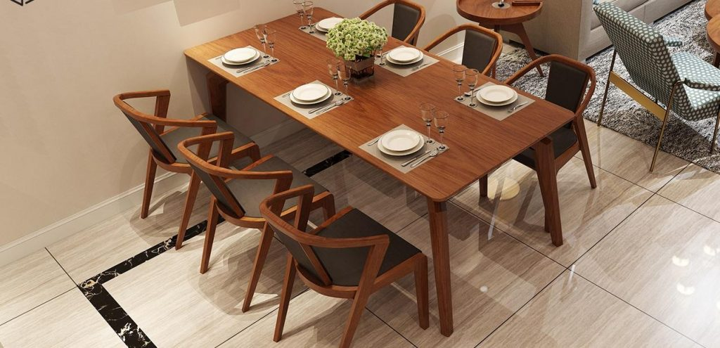 Mẫu bàn ghế gỗ phòng ăn đẹp nhất