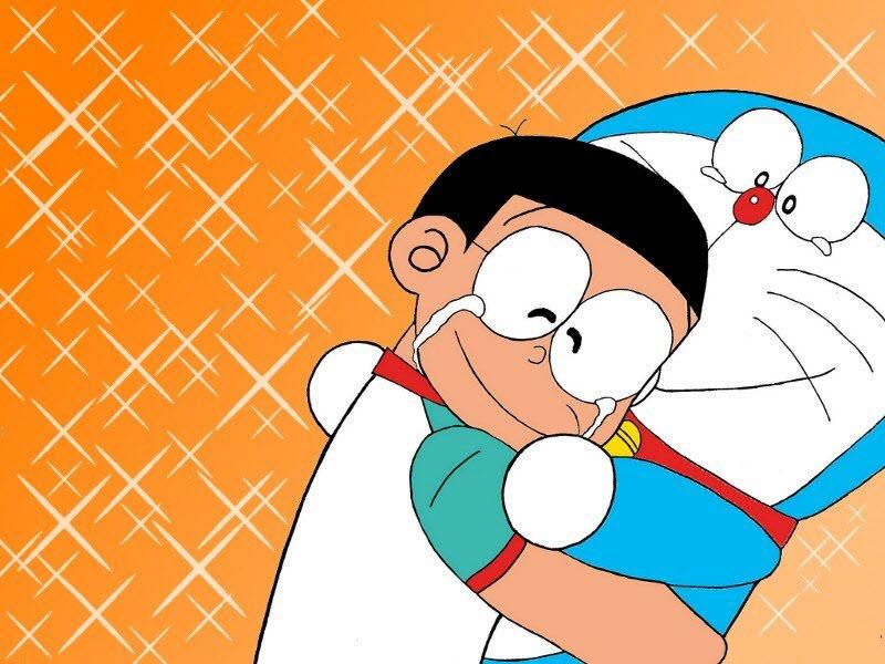 Nobita buồn khóc