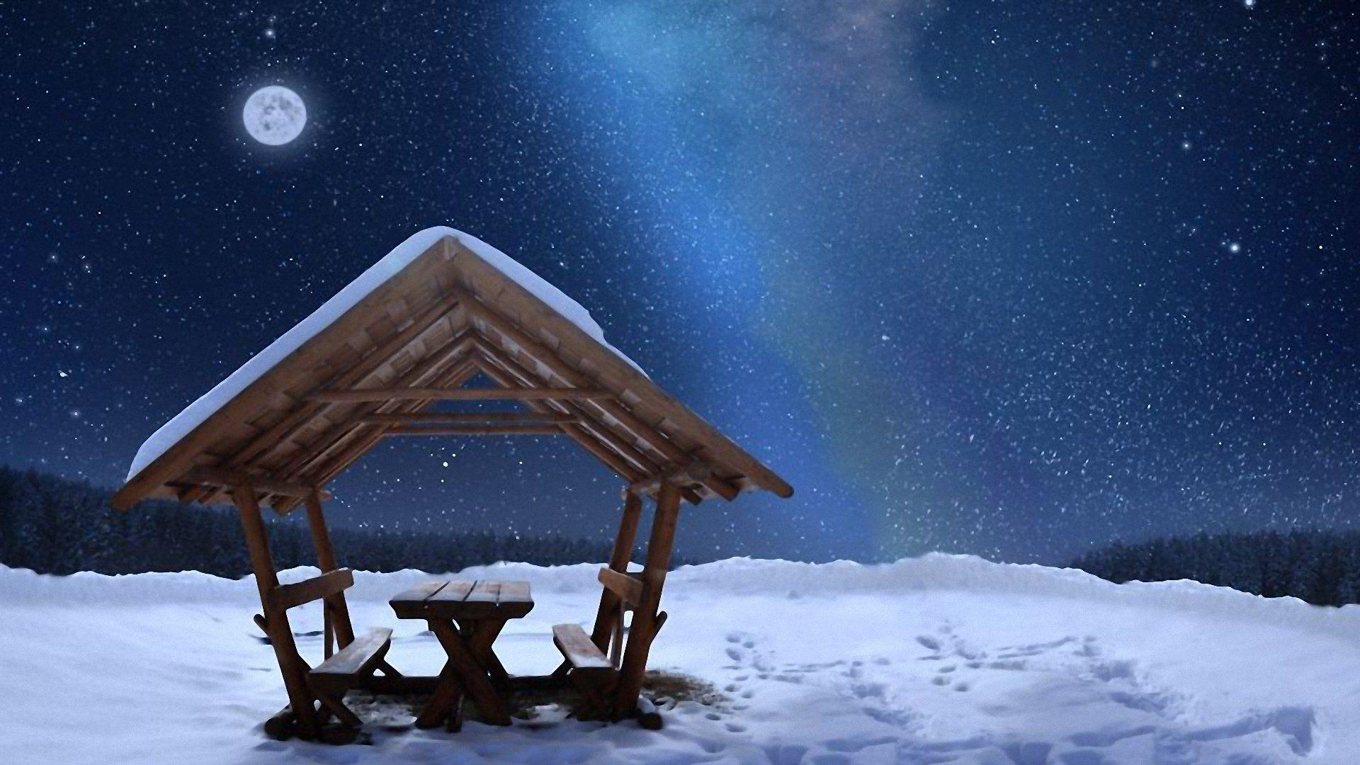 Winter Moon Wallpapera